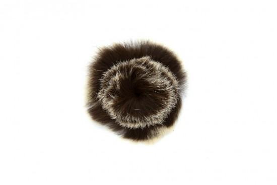 Καρφίτσα σε καφέ μπεζ χρώμα απαλή και σε σχήμα σφαίρας με διάμετρο 60mm