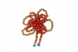 Καρφίτσα με χάντρες πολύχρωμη σε διάσταση 70Χ65mm