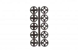 Σούστες πλαστικές μαύρες διαμέτρου 10mm