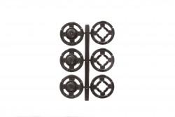 Σούστες πλαστικές μαύρες διαμέτρου 15mm