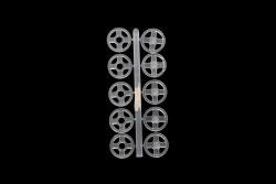 Σούστες πλαστικές λευκές διαφανείς διαμέτρου 7mm
