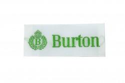 Ραφτό μοτίφ ετικέτα λευκή με πράσινα γράμματα 60Χ25mm