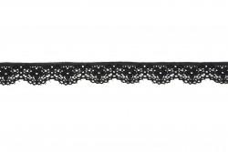 Δαντέλα νάυλον σε μαύρο 16mm