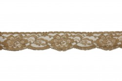 Δαντέλα νάυλον ελαστική σε μπεζ 30mm
