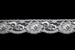Δαντέλα νάυλον ελαστική σε λευκό 30mm