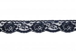 Δαντέλα νάυλον ελαστική σε μπλε 30mm