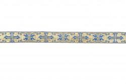 Σιρίτι - Γαλόνι εκκλησιαστικό σε μπλε και χρυσό χρώμα 22mm