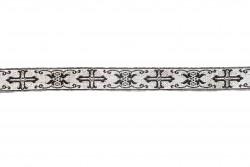 Σιρίτι - Γαλόνι εκκλησιαστικό σε μαύρο και ασημί χρώμα 22mm