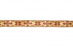 Σιρίτι - Γαλόνι εκκλησιαστικό σε χρυσό και βυσσινί χρώμα 22mm
