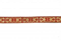 Σιρίτι - Γαλόνι εκκλησιαστικό σε χρυσό και κόκκινο χρώμα 22mm