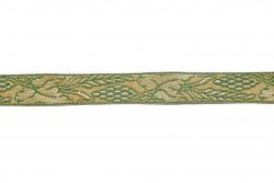 Σιρίτι - Γαλόνι εκκλησιαστικό σε χρυσό και πράσινο χρώμα 22mm