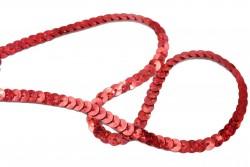 Τρέσα με πούλιες ιριδίζων με κόκκινες αποχρώσεις 6mm