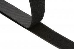 Ταινία Velcro 20mm σε μαύρο (αρσενικό - θηλυκό)