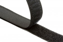 Ταινία Velcro 30mm σε μαύρο (αρσενικό - θηλυκό)