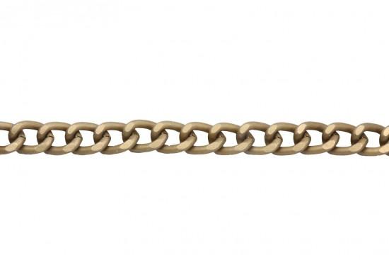 Αλυσίδα σε ματ χρυσό χρώμα 8mm